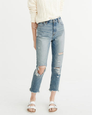 ANF High-Rise Girlfriend Jeans