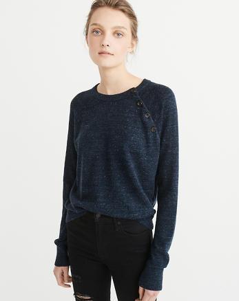 ANF Button Crewneck Sweater