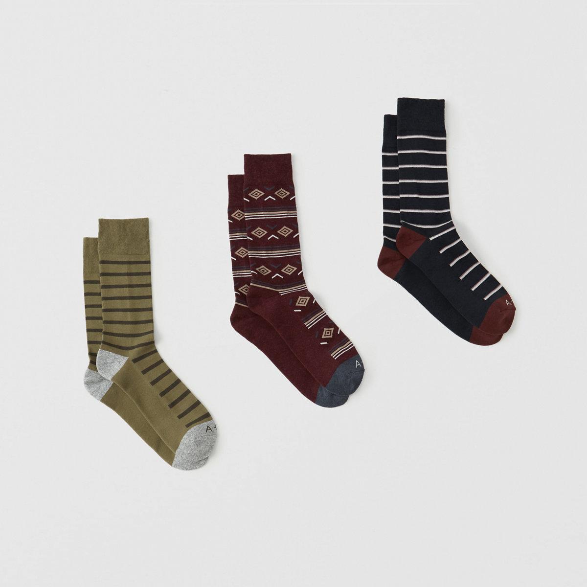 3-Pack Casual Socks