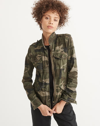 ANF Military Twill Shirt Jacket