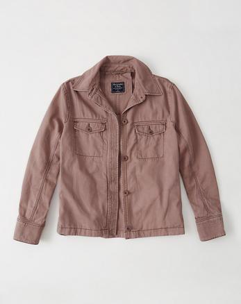 ANF Swing Twill Shirt Jacket
