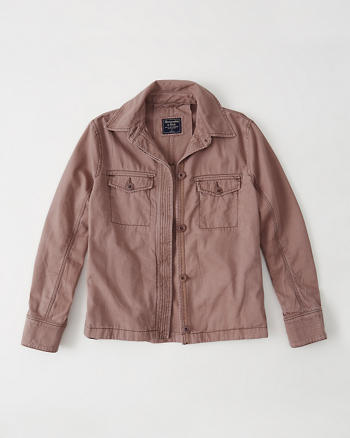 ANF Swing Twill Shirt Jacket