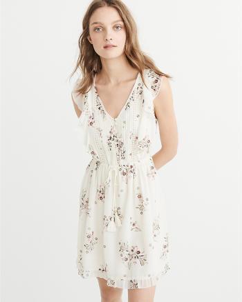 ANF Ruffle Sleeve Dress