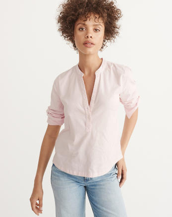 ANF Oxford Popover Shirt