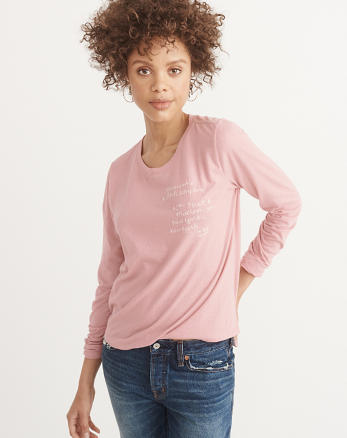 ANF Embroidered Long-Sleeve Tee