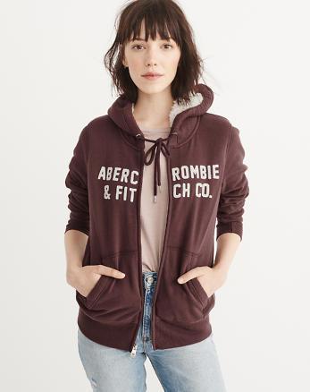 ANF Heritage Logo Sherpa Hoodie