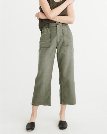 ANF High-Rise Cropped Utility Pants