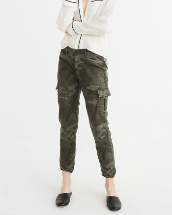 ANF Low-Rise Military Boyfriend Pants