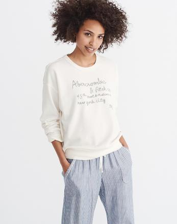 ANF Embroidered Logo Sweatshirt