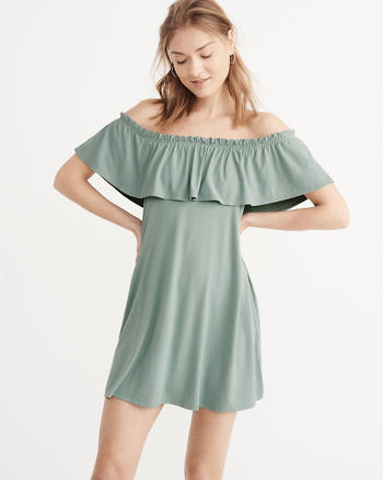 ANF Ruffle Off-The-Shoulder Dress