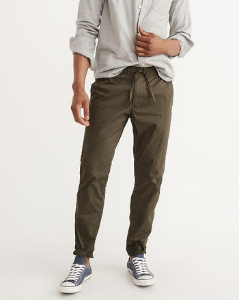 ANF Athletic Slim Tie-Waist Pants