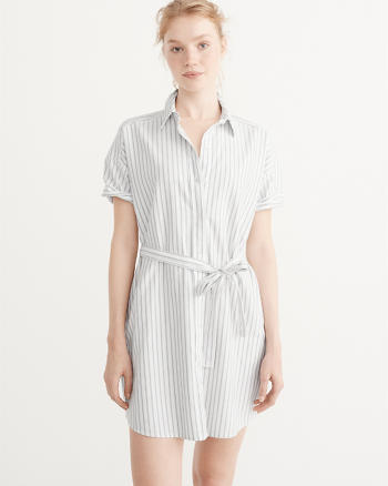 ANF Short-Sleeve Shirt Dress