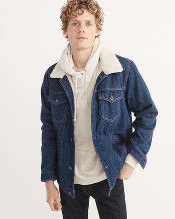 ANF Sherpa Denim Jacket