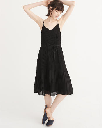 ANF Pleated Midi Dress