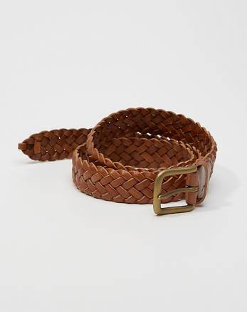 ANF 1 1/4-Inch Braided Leather Belt