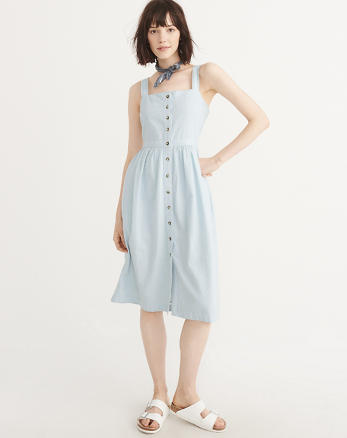ANF Button-Up Midi Dress