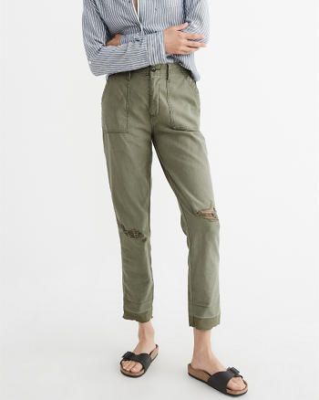 ANF High-Rise Cropped Military Pants