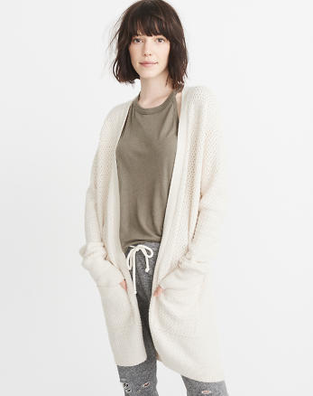 ANF Textured Cardigan