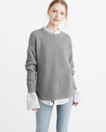 ANF Textured Crewneck Sweater