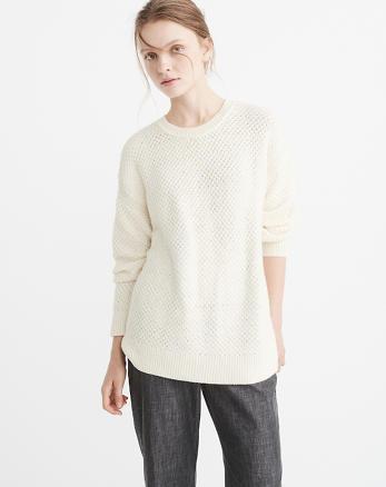ANF Textured Crewneck Sweater