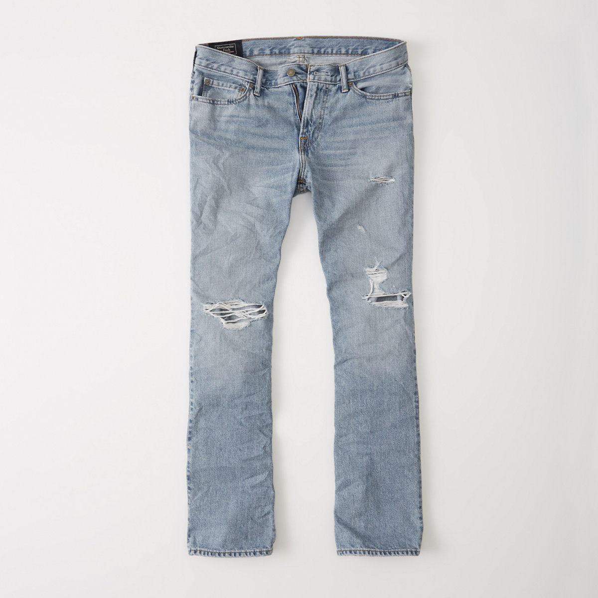 Ripped Bootcut Jeans