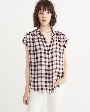 ANF Relaxed Plaid Shirt