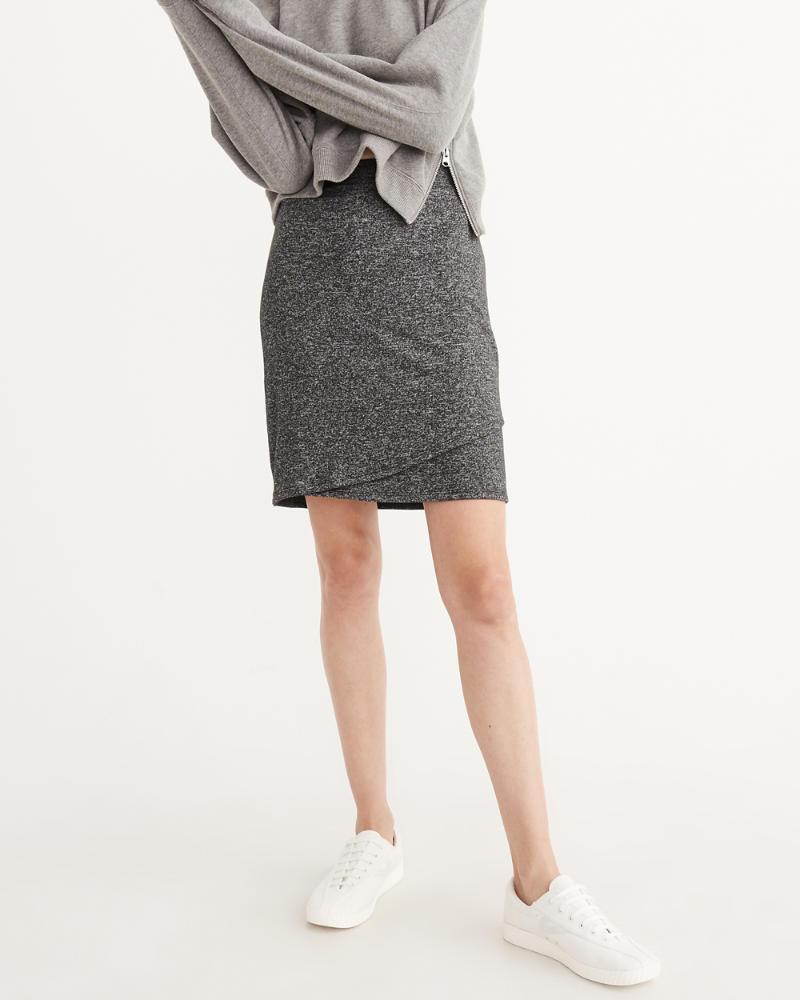cozy wrap skirt