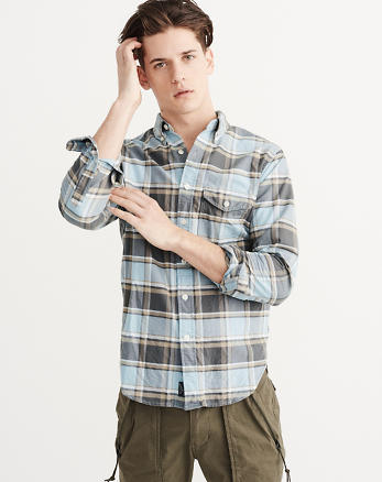ANF Bleached Oxford Shirt