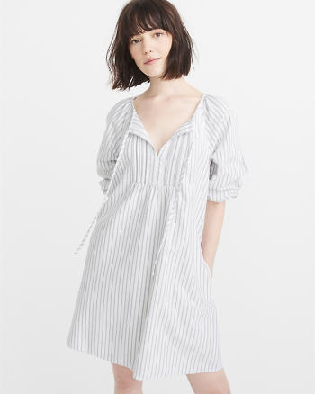 ANF Poplin Peasant Dress