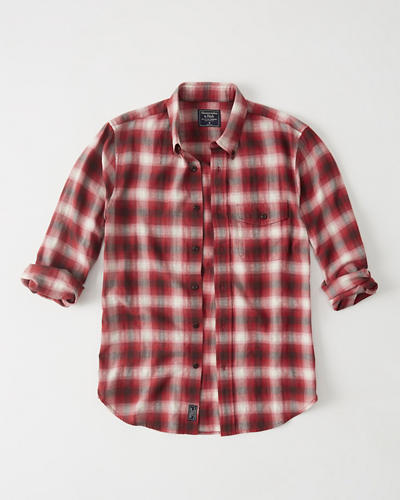 Herringbone Shirt by Abercrombie & Fitch