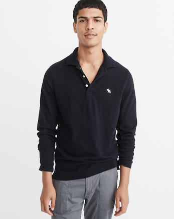 ANF Long-Sleeve Icon Polo