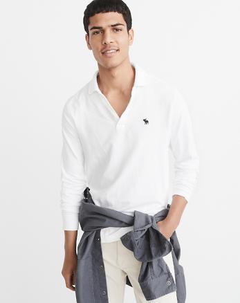 ANF Long-Sleeve Icon Polo