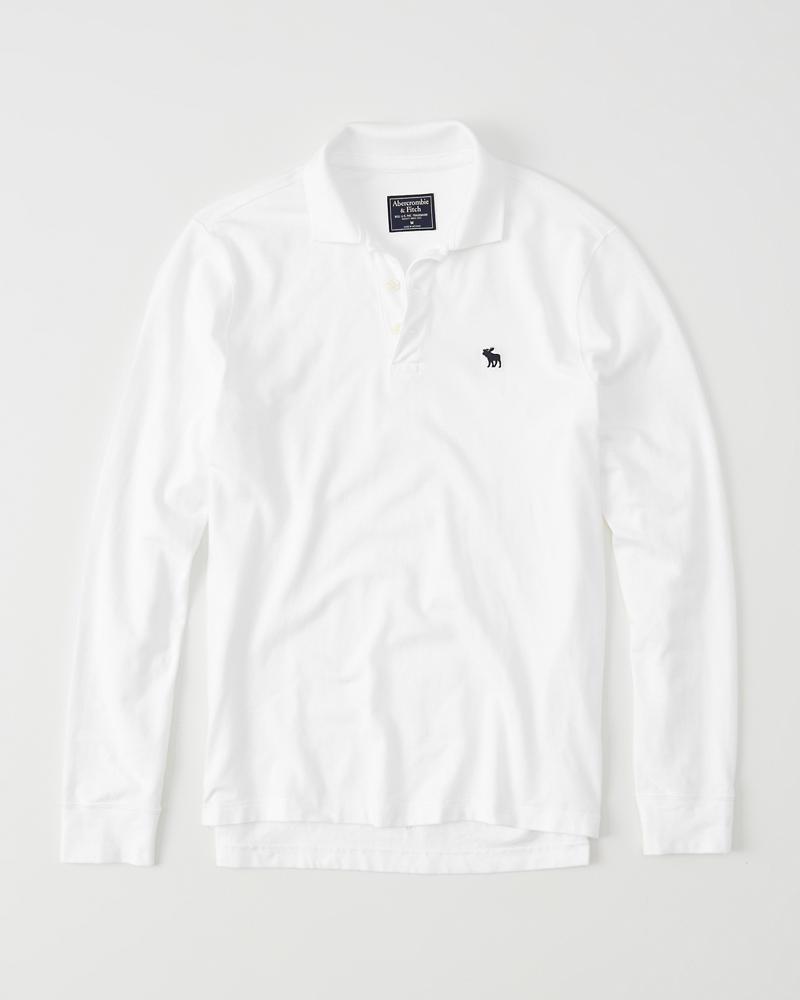 459ead547b Mens Long-Sleeve Icon Polo