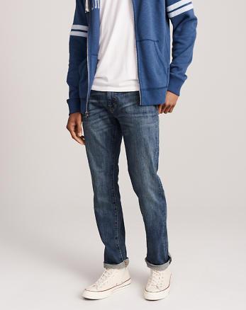 Abercrombie & Fitch Slim Straight Jeans Bottoms Dark Wash UMD