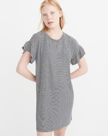 ANF Ruffle Sleeve Knit Dress
