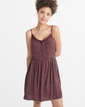 ANF Lace-Trim Cami Dress