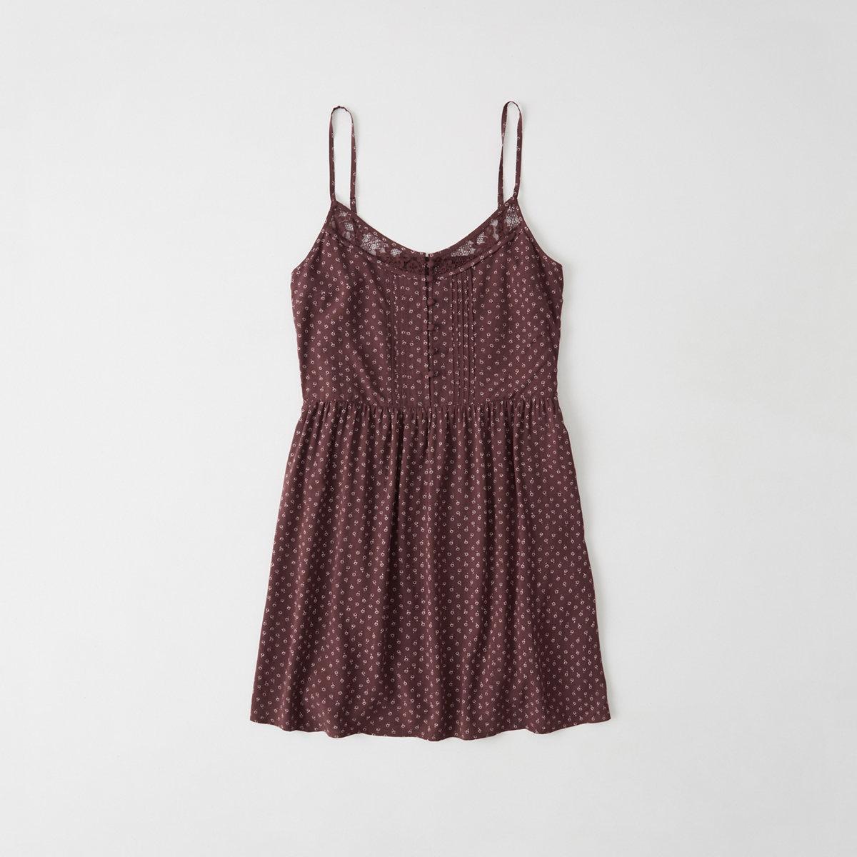 Lace-Trim Cami Dress