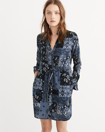 ANF Long-Sleeve Shirtdress