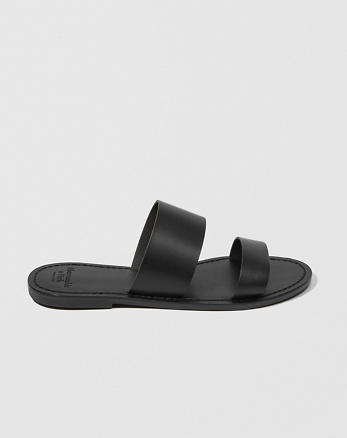 ANF Leather Slide Sandals