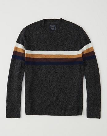 ANF Striped Crew Sweater