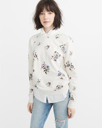ANF Patterned Sweatshirt