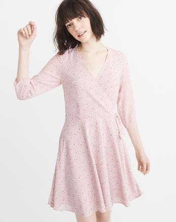 ANF Chiffon Wrap Dress
