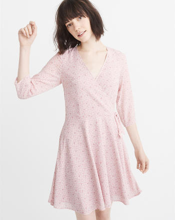 ANF Chiffon Wrap Dress