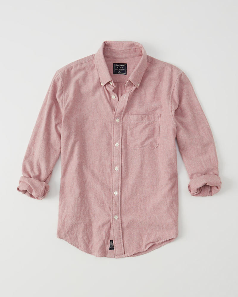 Abercrombie Fitch Classic Oxford Shirt Tops Pink CCG