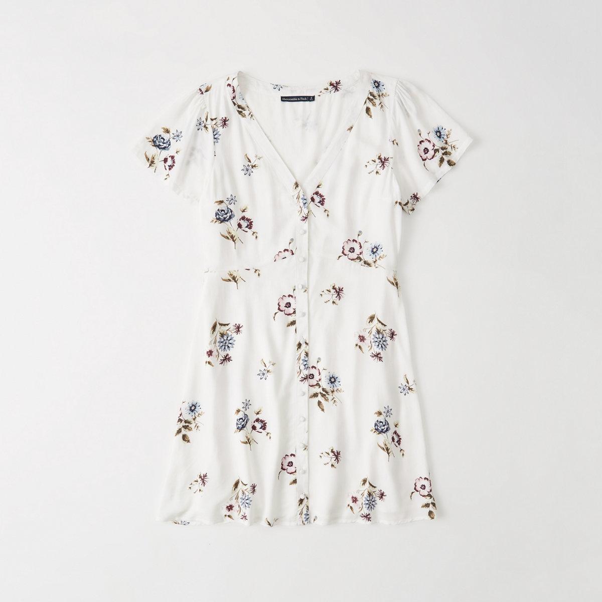 Button-Up Mini Dress