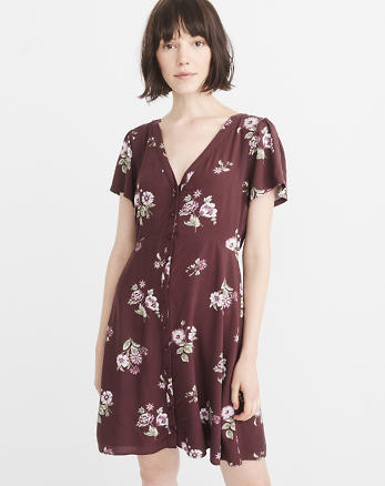 ANF Button-Up Mini Dress