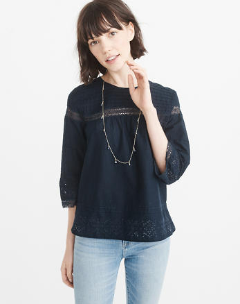 ANF Lace-Pieced Top