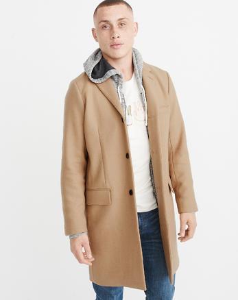 ANF Italian Wool-Blend Topcoat
