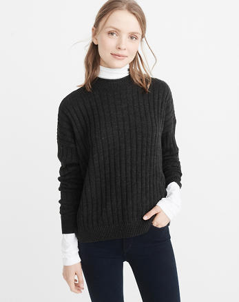 ANF Boxy Ribbed Pullover