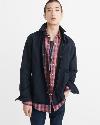 ANF Snap-Up Shirt Jacket